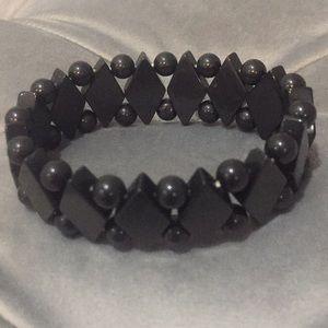 Gorgeous black beaded bracelet